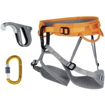 RAY HARNESS PACKAGE WITH RAMA BELAY DEVICE AND LOCKING CARABINER